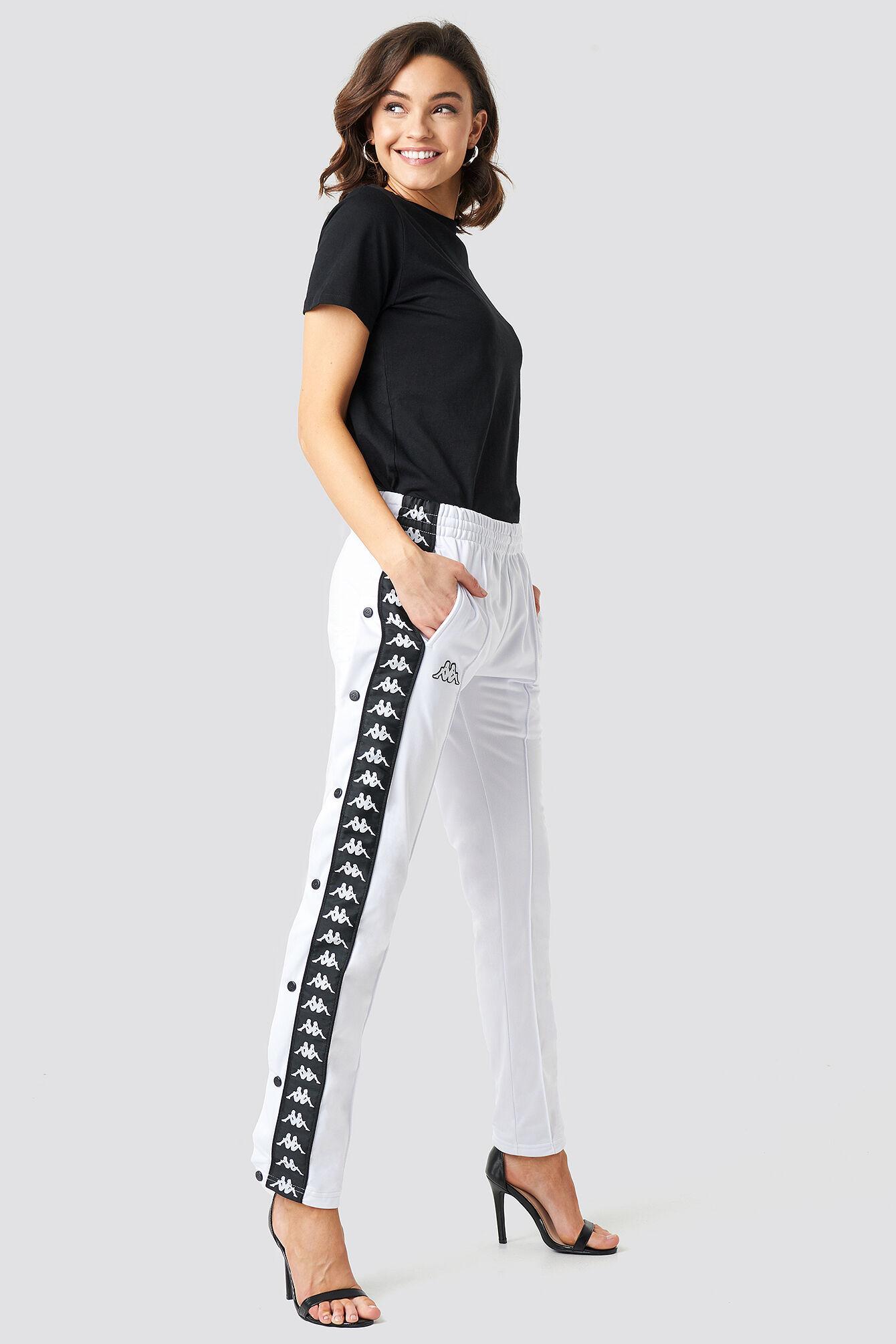 Kappa Astoria Slim Pants - White  - Size: Small