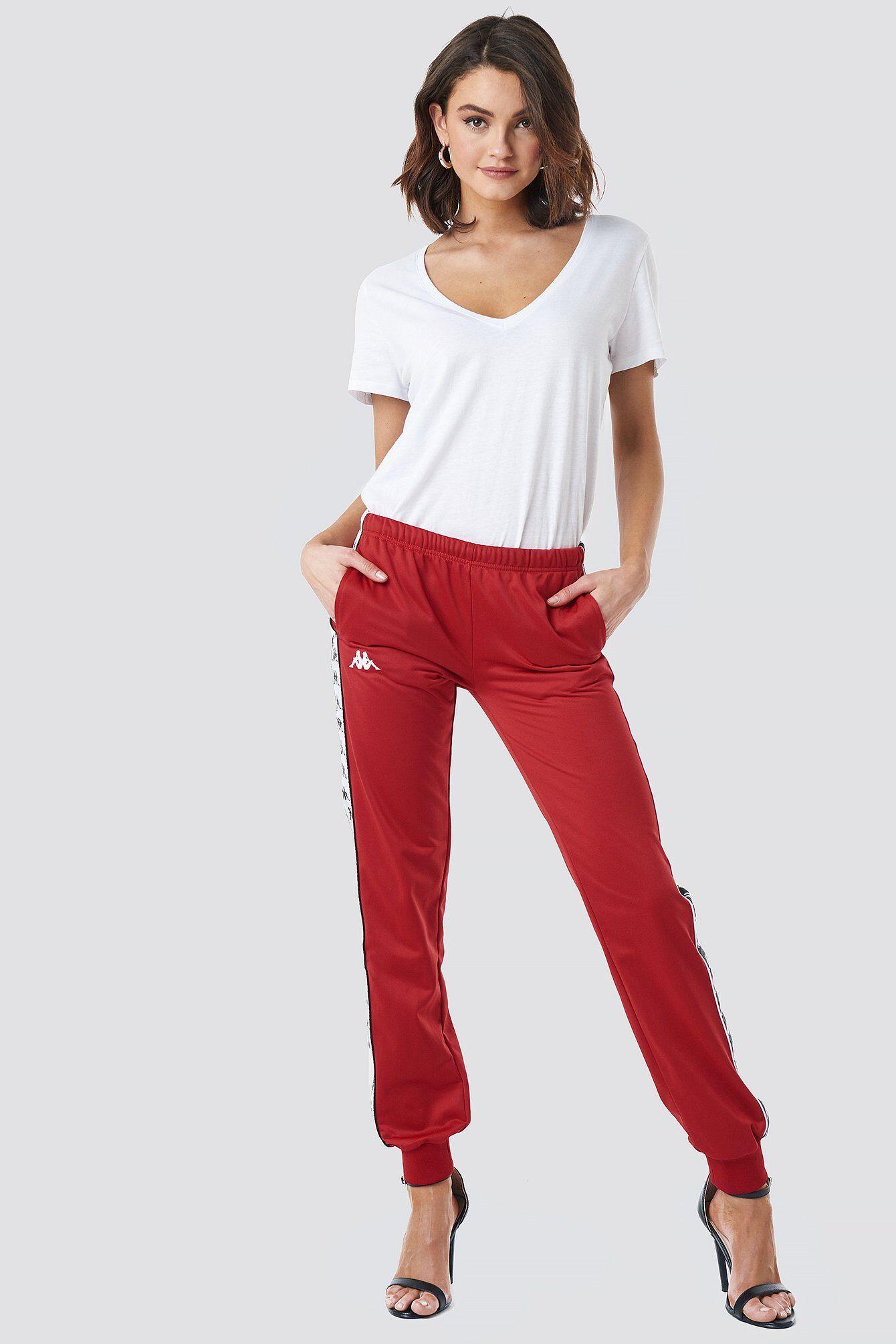 Kappa Wrastoria Banda Pants - Red  - Size: Small