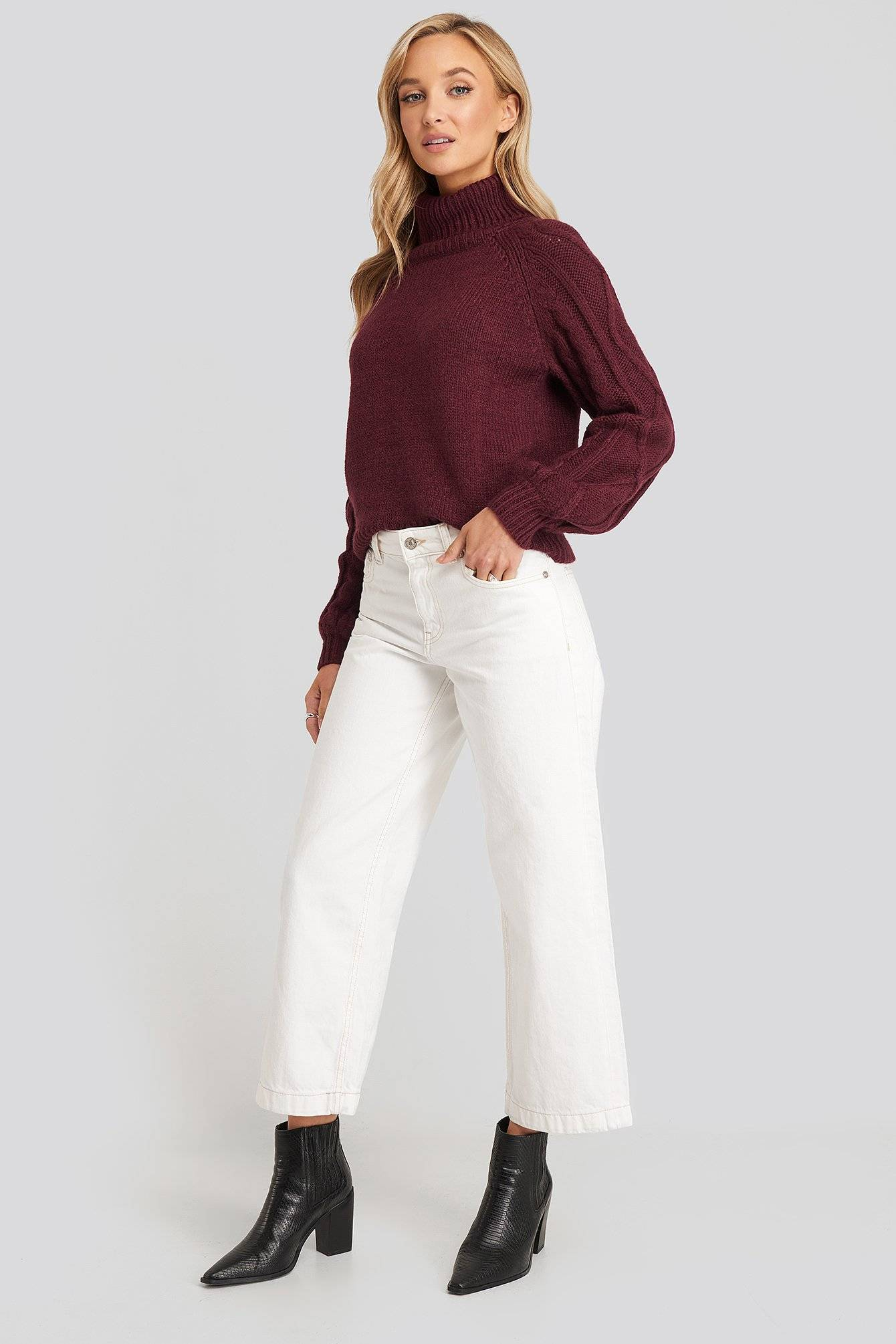 MANGO Culotte Jeans - White  - Size: EU 32,EU 34,EU 36,EU 38,EU 40