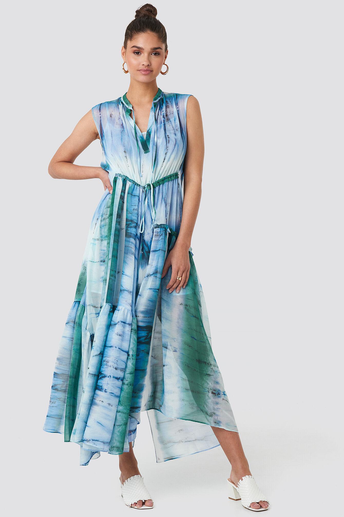 Image of MANGO Tayi Dress - Blue