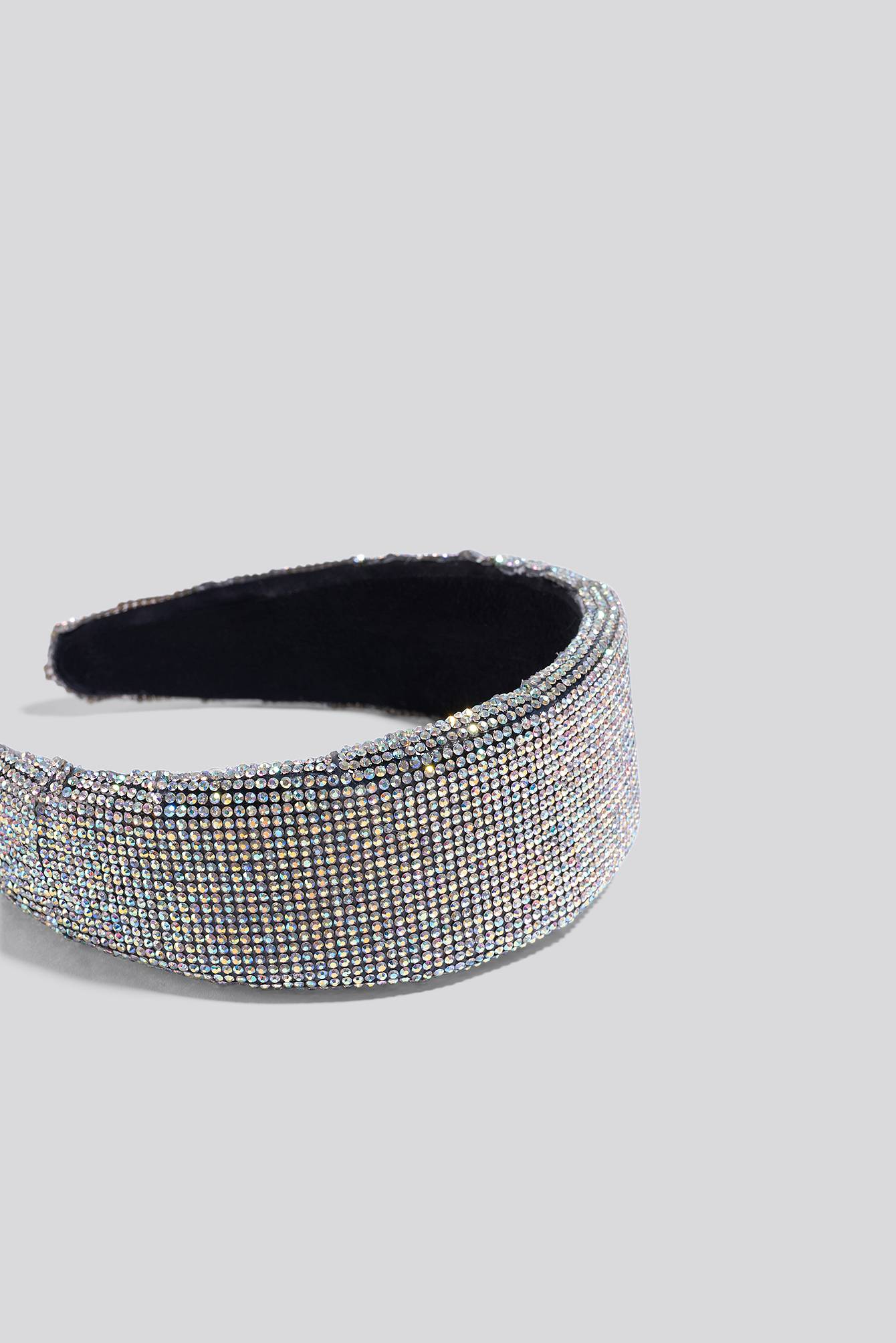 Image of NA-KD Accessories All Over Rhinestone Head Band - Silver