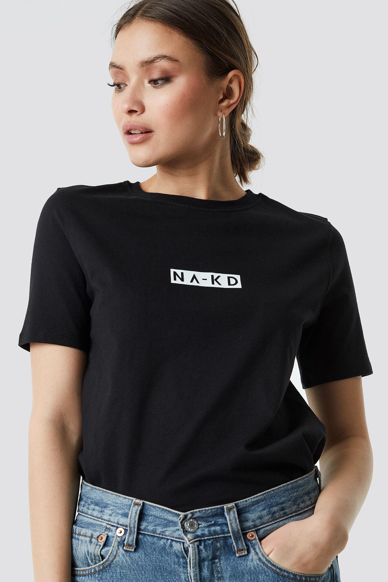 NA-KD Logo Tee - Black