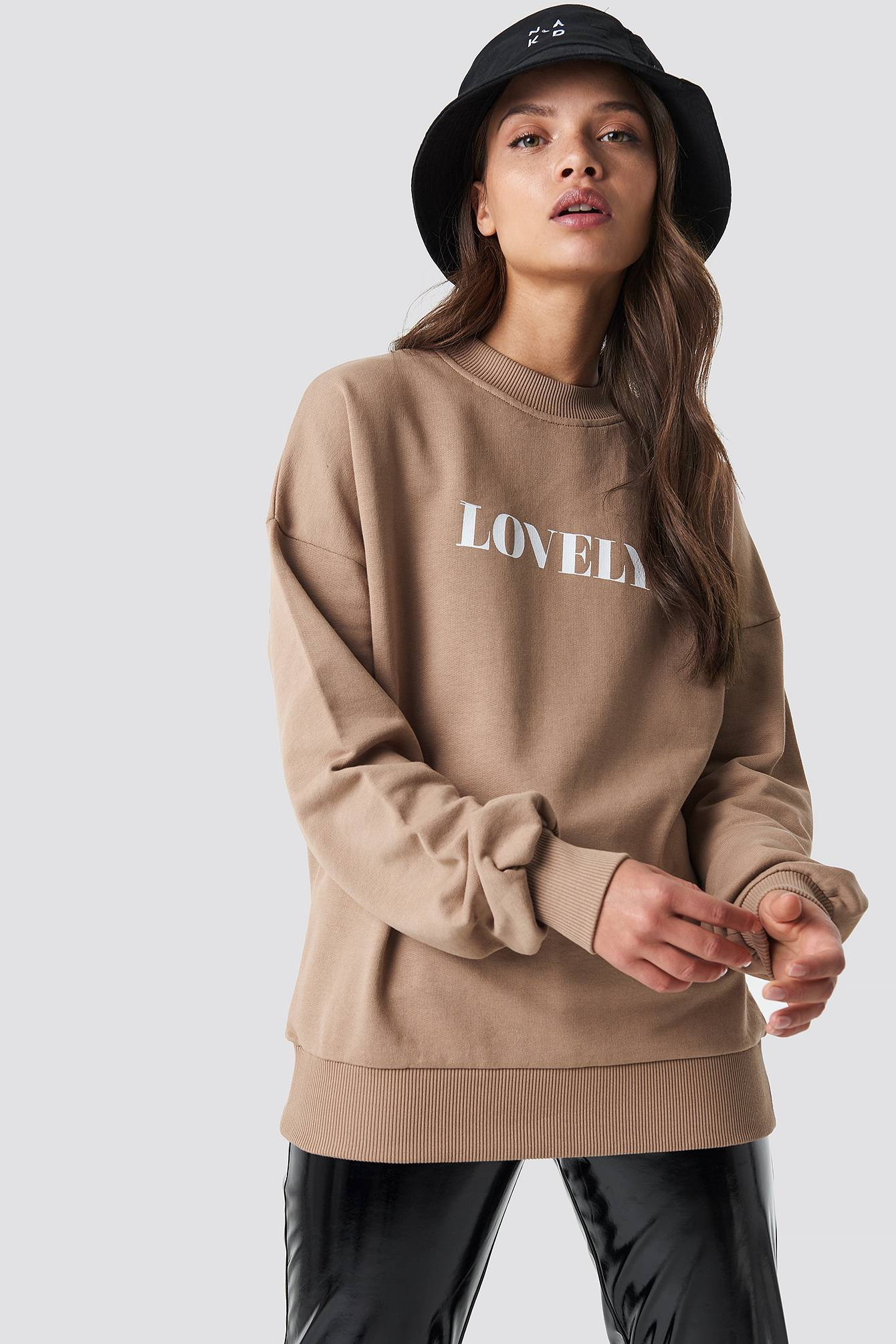 NA-KD Lovely Sweatshirt - Brown