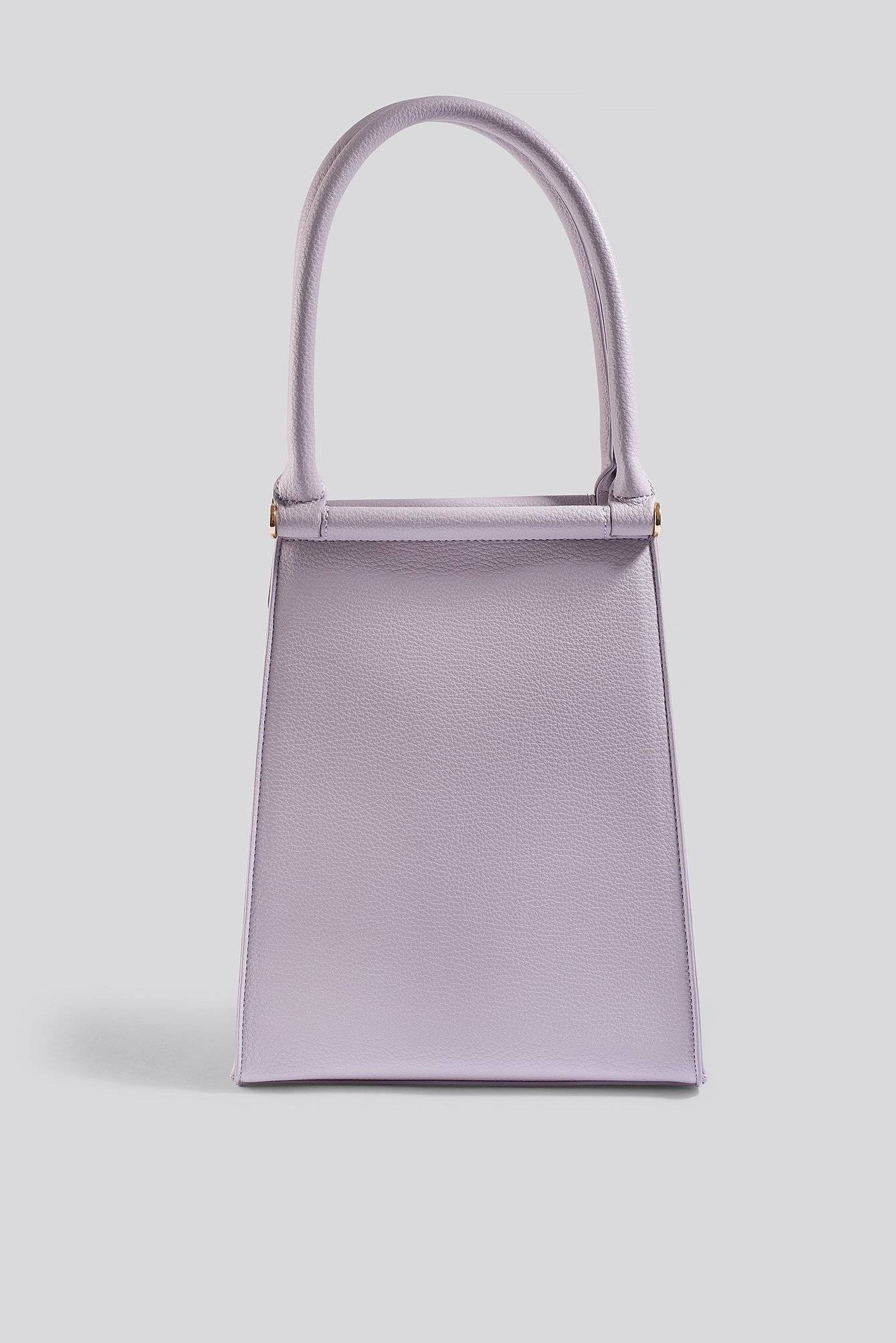NA-KD Accessories Top Handle Trapeze Bag - Purple  - Size: One Size