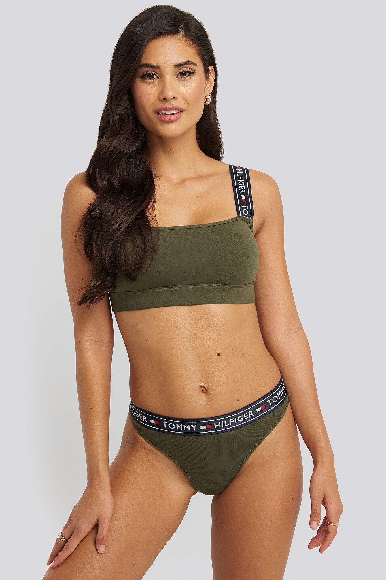 Tommy Hilfiger Brazilian Cotton Panties - Green  - Size: Small