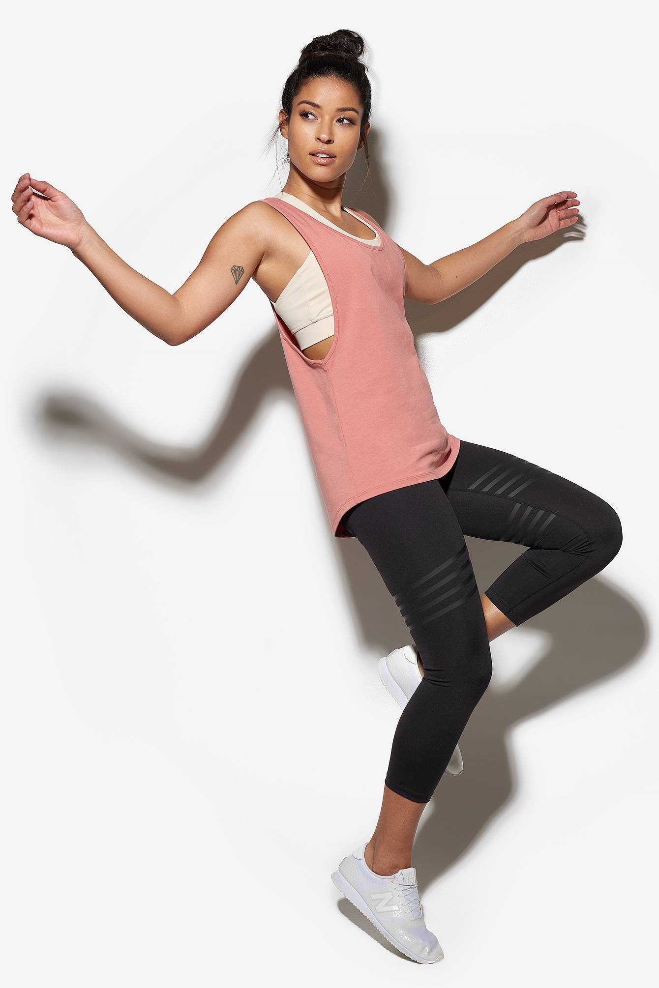TONED by Ashy Bines A-Line Toned Tank Top - Pink