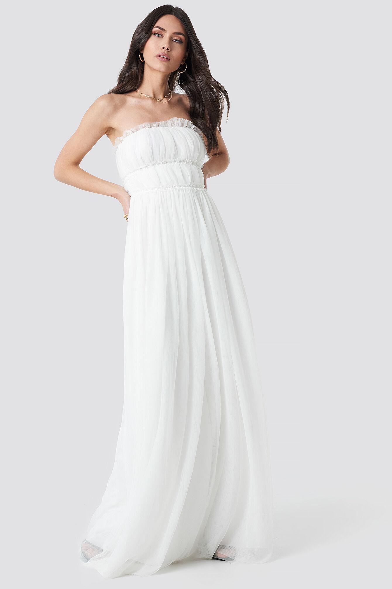 Image of Trendyol Detailed Evening Dress - White