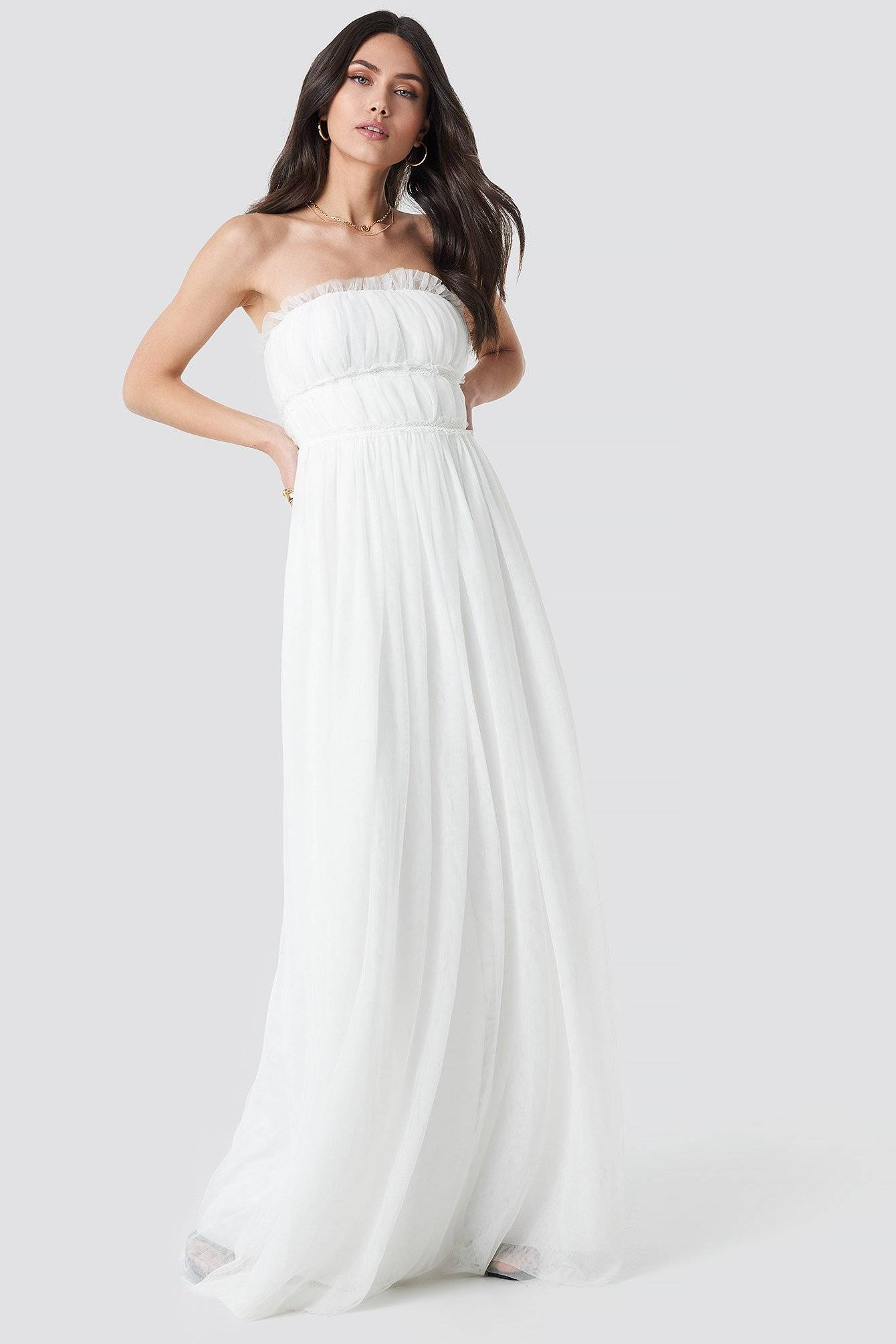 Image of Trendyol Detailed Evening Dress - White