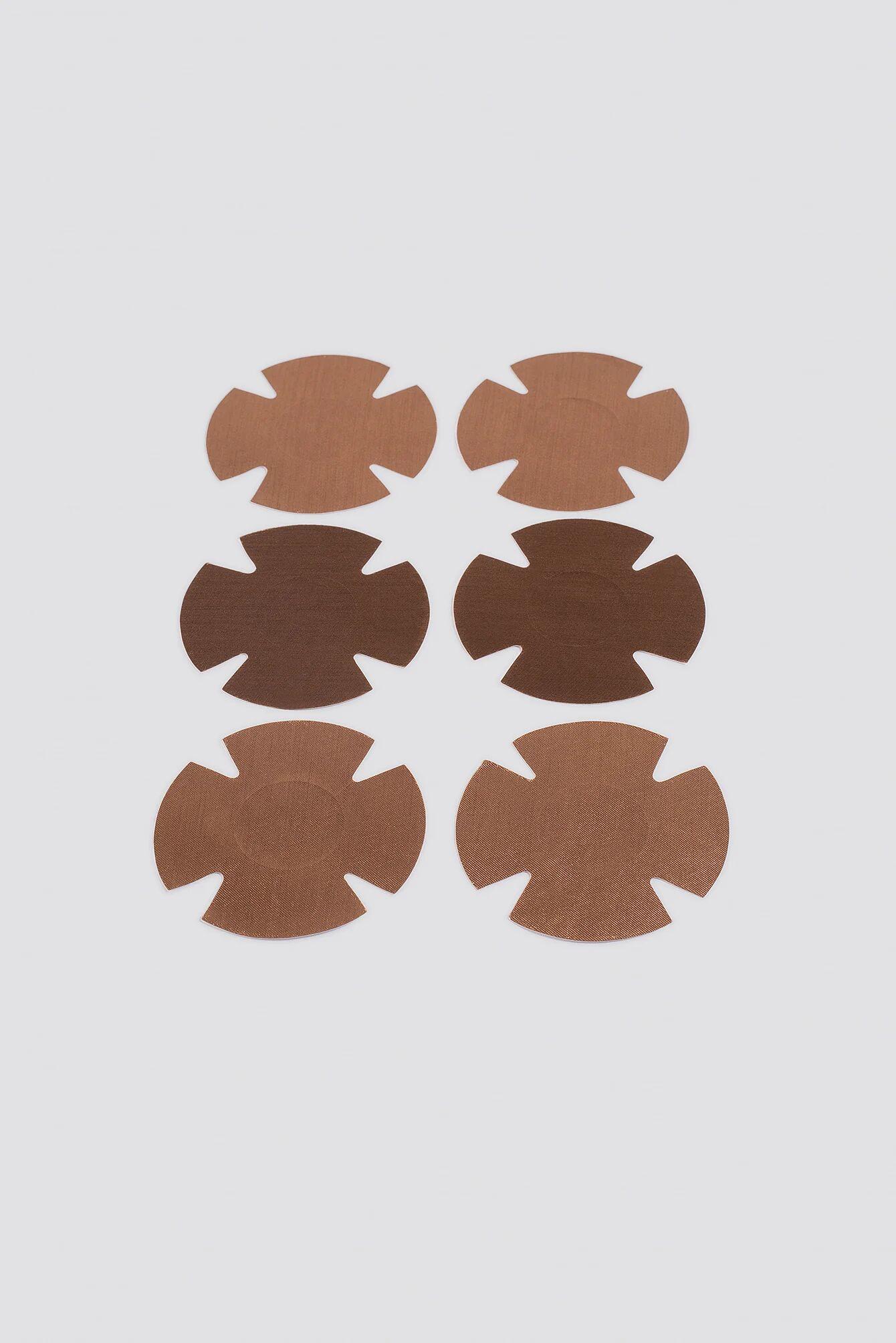 Freebra Thin Nipple Covers - Brown,Beige  - Size: One Size