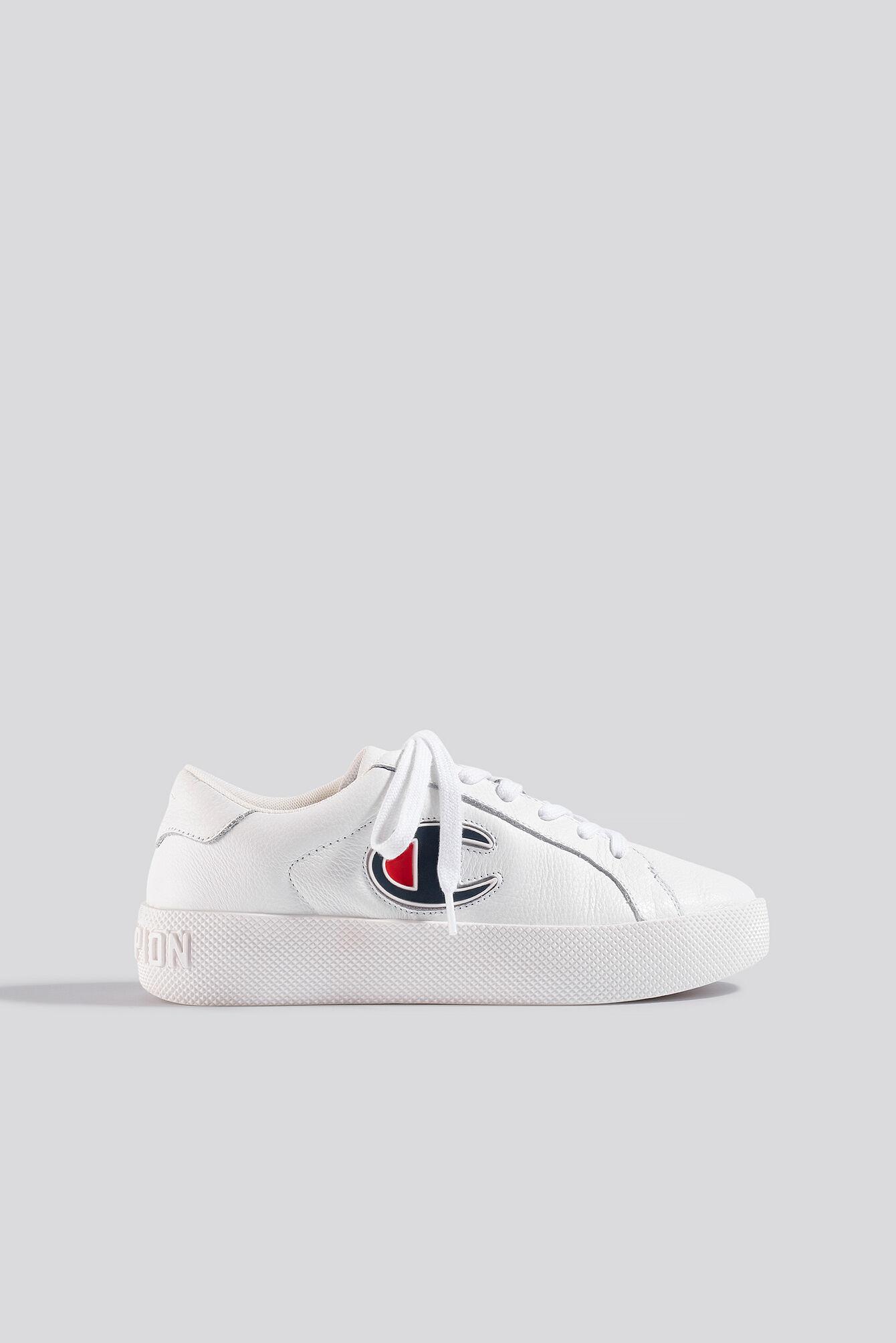 Champion Era Low Cut Leather Sneaker - White  - Size: EU 36.5,EU 37.5,EU 38,EU 38.5,EU 39,EU 40