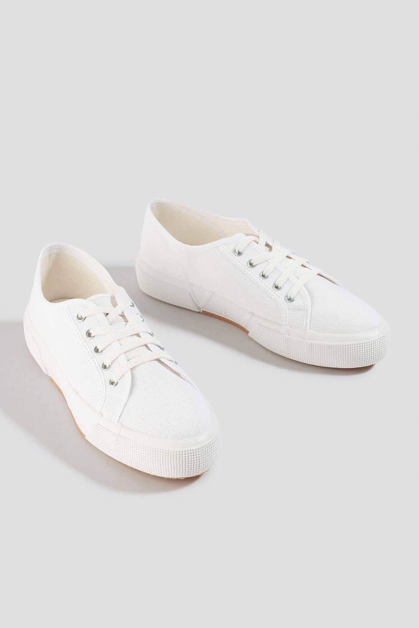 NA-KD Shoes Basic Canvas Sneakers - White  - Size: EU 36,EU 37,EU 38,EU 39,EU 40,EU 41