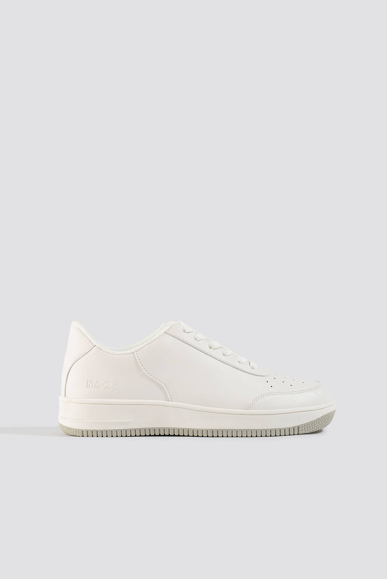 NA-KD Shoes Basic Sneakers - White  - Size: EU 36,EU 37,EU 38,EU 39,EU 40,EU 41
