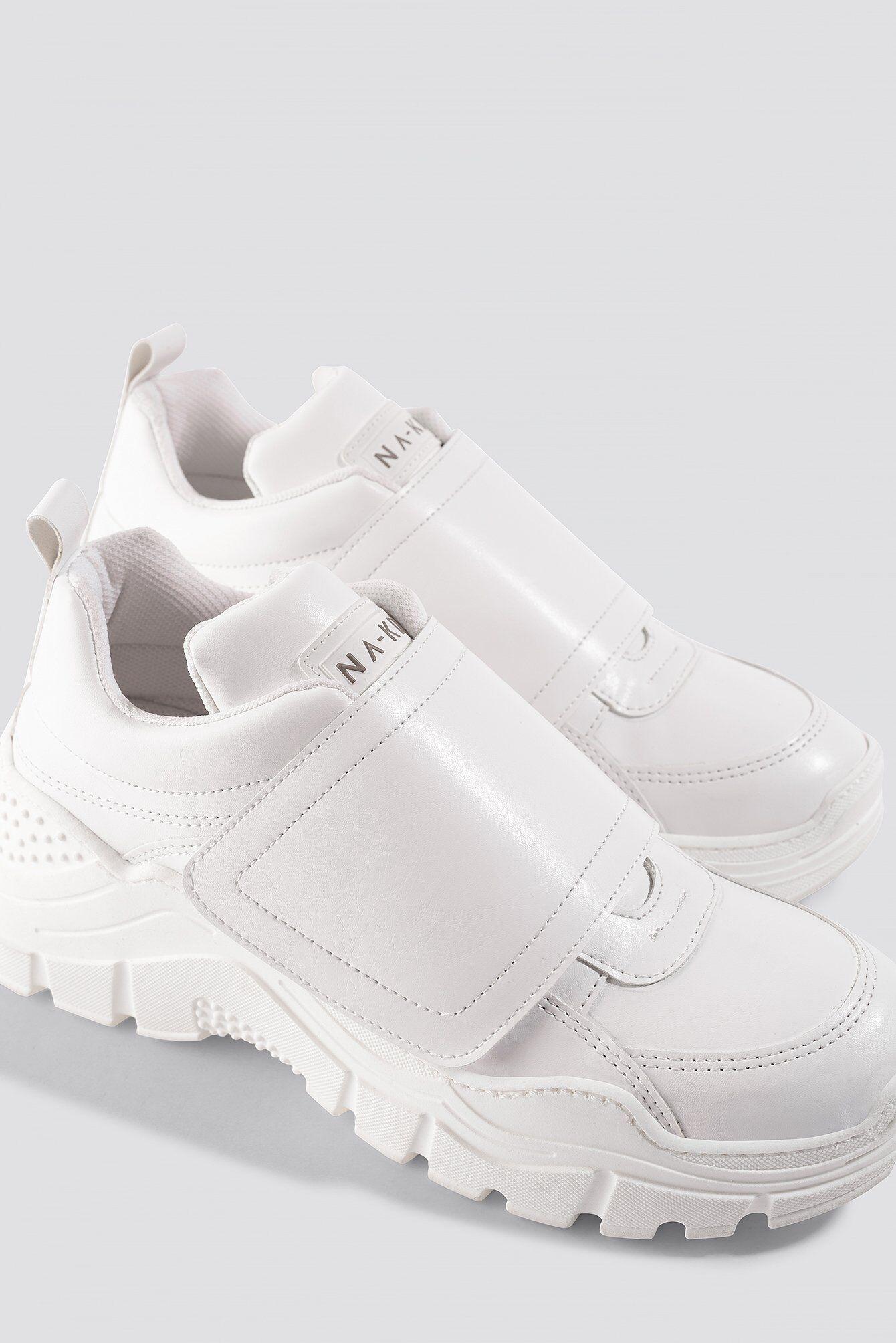 NA-KD Shoes Big Velcro Chunky Trainers - White  - Size: EU 36,EU 37,EU 38,EU 39,EU 40,EU 41