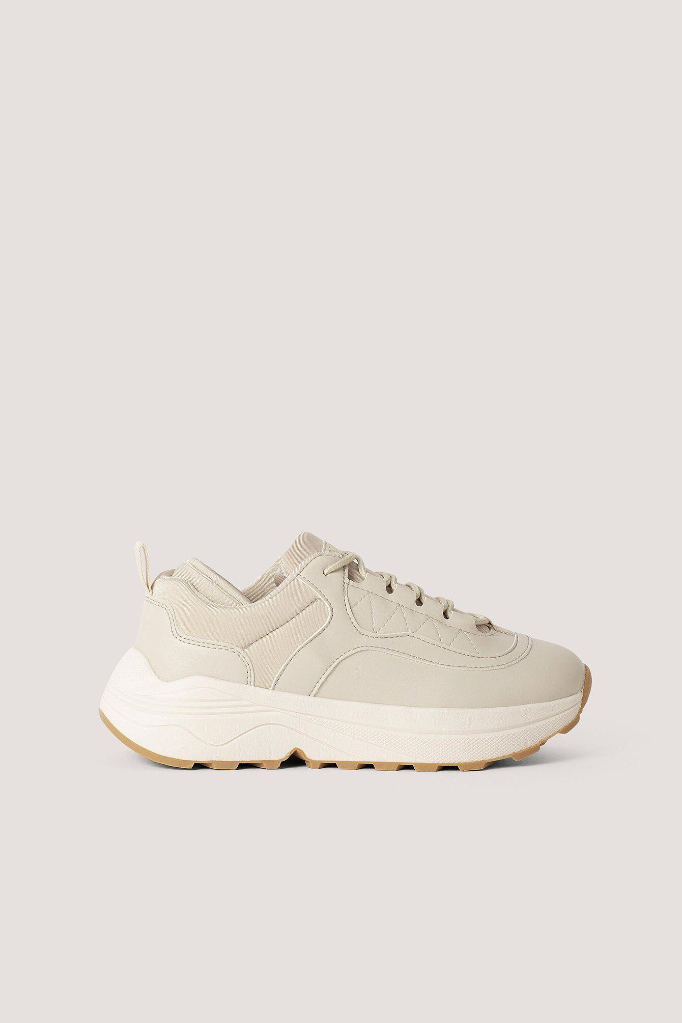 NA-KD Shoes Rounded Chunky Trainers - Beige  - Size: EU 36,EU 37,EU 38,EU 39,EU 40,EU 41