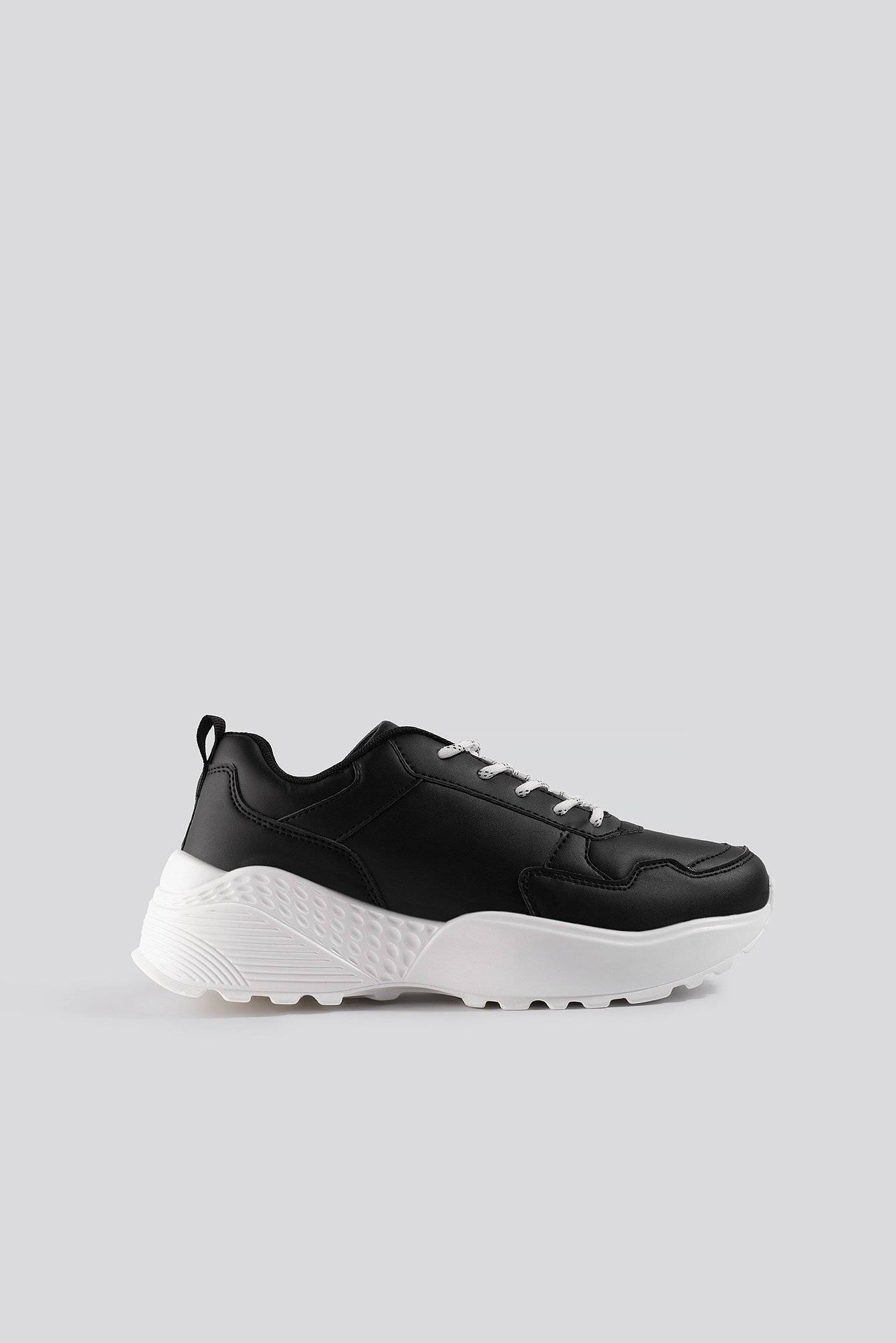NA-KD Shoes Rubber Detail Trainers - Black  - Size: EU 36,EU 37,EU 38,EU 39,EU 40,EU 41