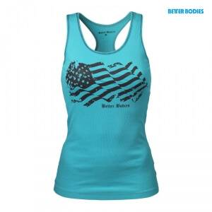 Better Bodies N.Y Rib T-back, aqua blue, large