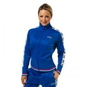 Better Bodies Trinity Track Jacket, strong blue, large