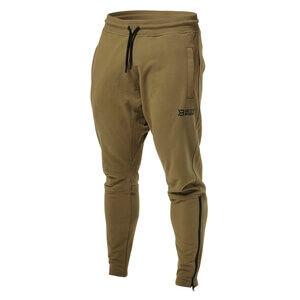 Better Bodies Harlem Zip Pants, military green, large