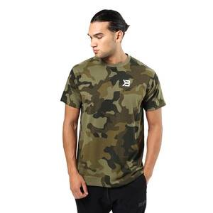 Better Bodies Harlem Oversize Tee, military camo, small