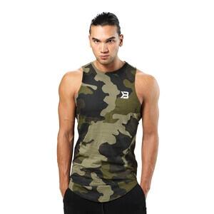 Better Bodies Harlem Tank, military camo, medium