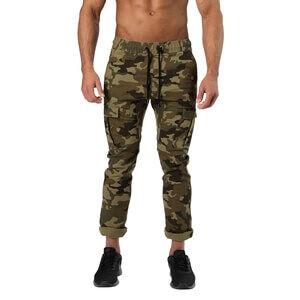 Better Bodies Harlem Cargo Pants, military camo, large
