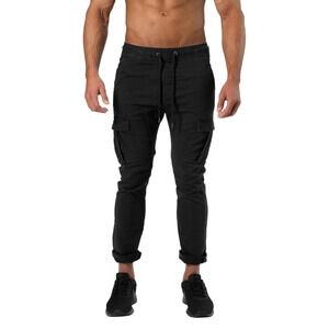 Better Bodies Harlem Cargo Pants, wash black, xlarge