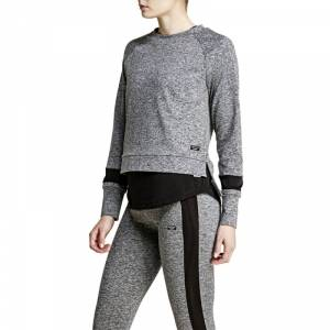 Björn Borg Calista Long Sleeve Sweatshirt, new black melange, 42