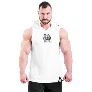 Nebbia Hardcore Hooded Tanktop, white, large