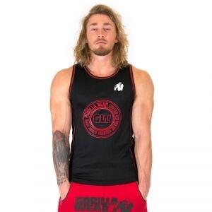 Gorilla Wear Men Kenwood Tank Top, black/red, large