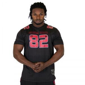 Gorilla Wear Men Fresno Tee, black/red, xxlarge