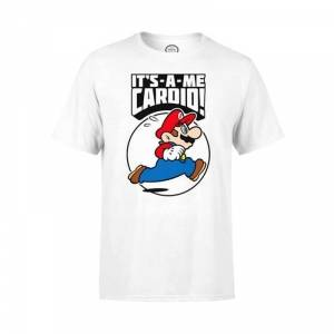 Nintendo Mario Cardio T-Shirt, white, large