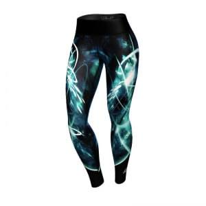 Anarchy Apparel Women Quantum Leggings, black/turquoise, small