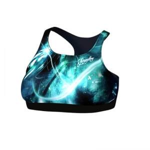 Anarchy Apparel Women Quantum Sports Bra, black/turquoise, xsmall