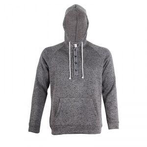 2117 of Sweden Ljungby Wave Fleece Hood, dark grey, 2117