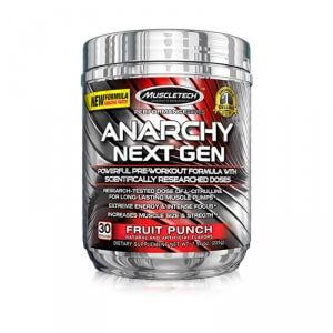 MuscleTech Anarchy Next Gen, 210 g, Blue Raspberry