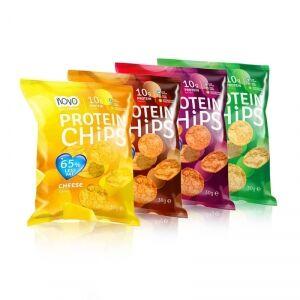 NOVO Nutrition Protein Chips, 30 g, Sour Cream & Onion