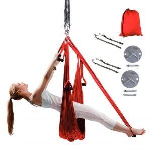 inSPORTline Yogaswing Antigravity Set, röd, inSPORTline