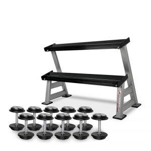 Image of inSPORTline Skivhantelset & Hantelställ Pro, 5 par, 10-20 kg, inSPORTline