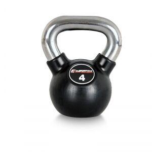 Image of inSPORTline Kettlebell, gummi/krom 4 kg, inSPORTline