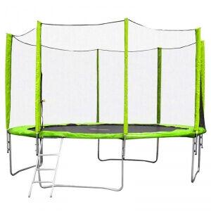 Image of inSPORTline Studsmatta med säkerhetsnät Froggy Pro, 430 cm, inSPORTline