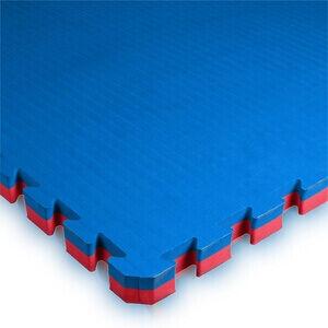 Budo-Nord Pusselmatta 100 x 100 x 4 cm, blå/röd, Budo-Nord