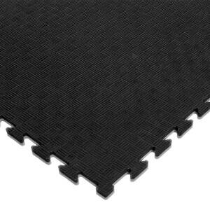 Budo-Nord Pusselmatta med kantbitar, 100 x 100 x 2 cm, svart/grå, Budo-Nord