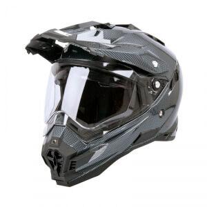 W-TEC Motorcykelhjälm AP-885, carbon black, W-TEC