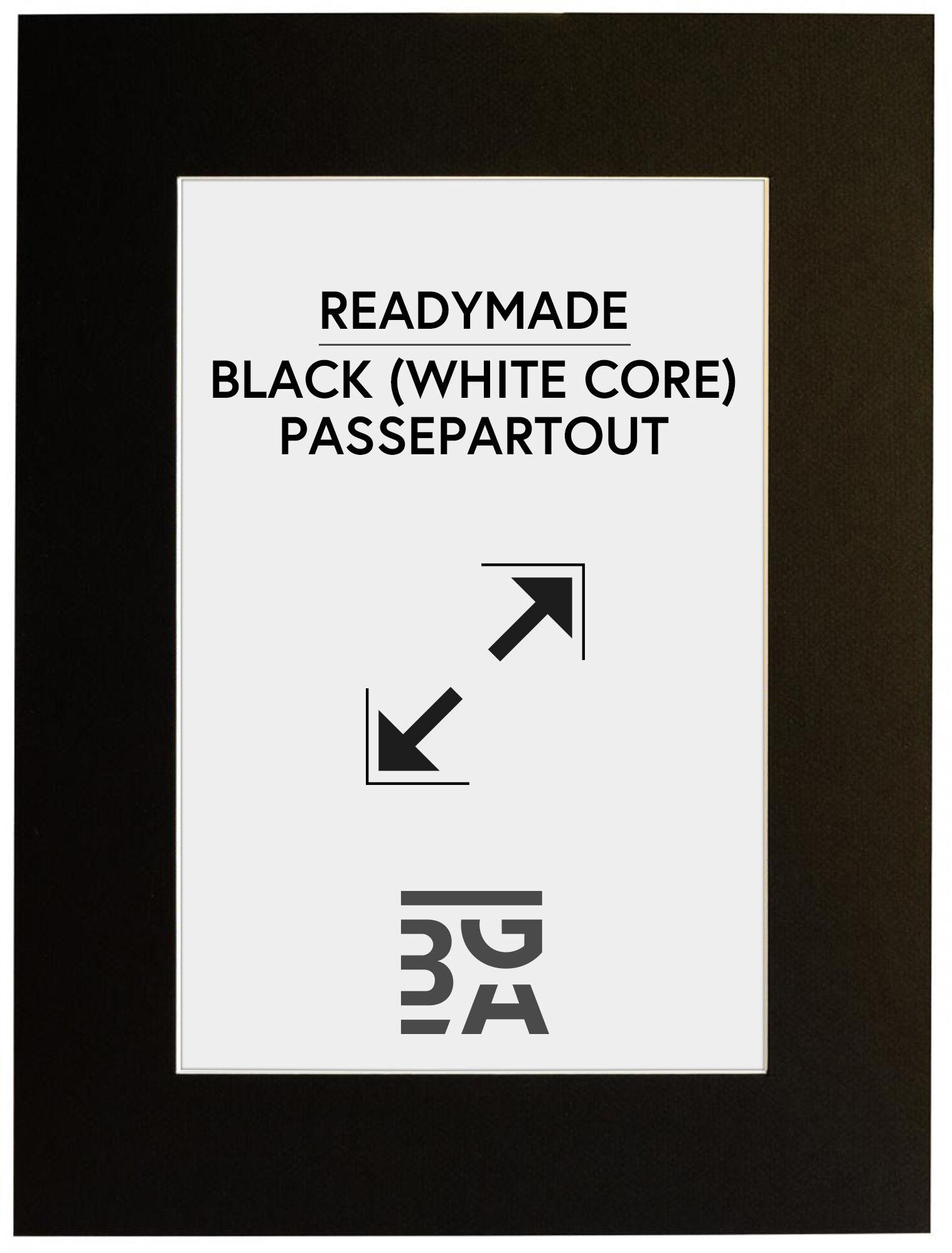 Image of Paspatuuri Musta (Valkoinen keskus) 20x30 cm (14x19,5)