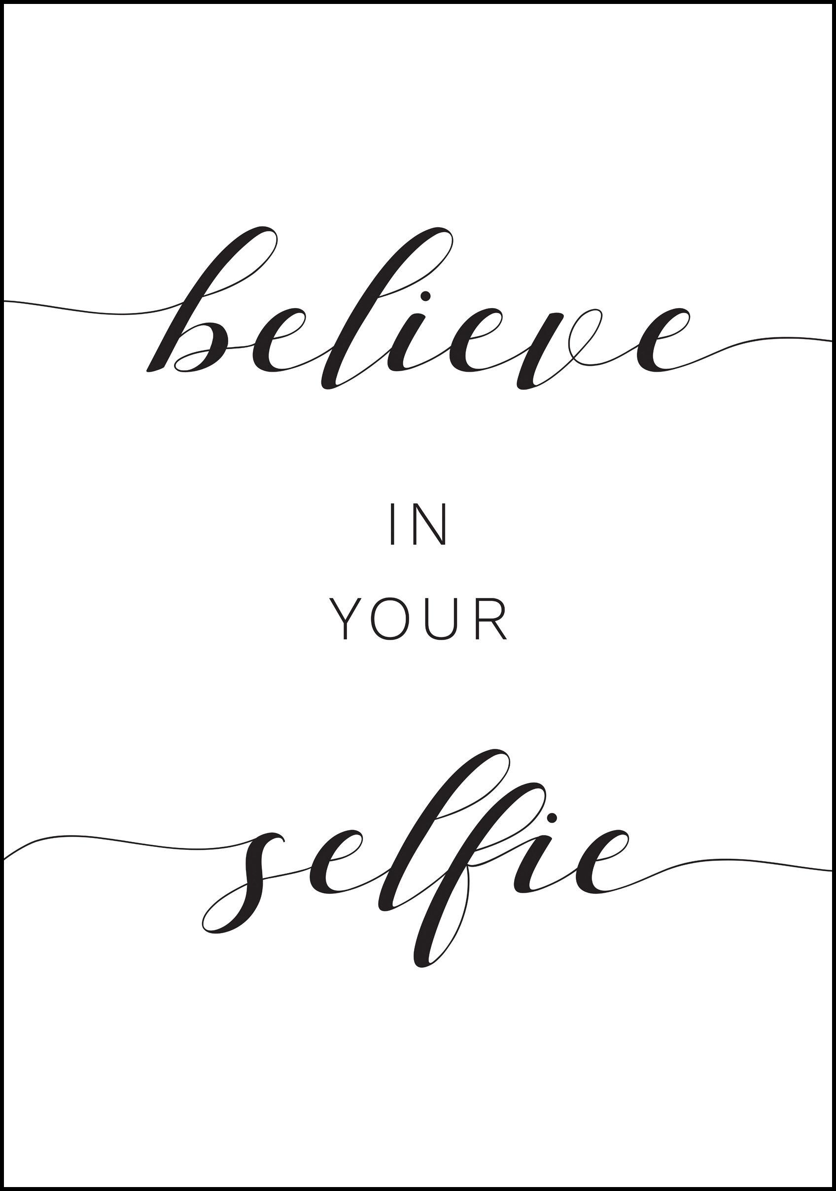 Bildverkstad Belive In your Selfie