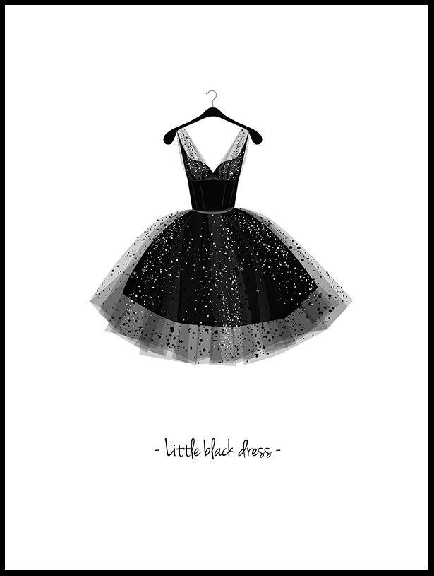Image of Artlink Little Black Dress - 30x40 cm
