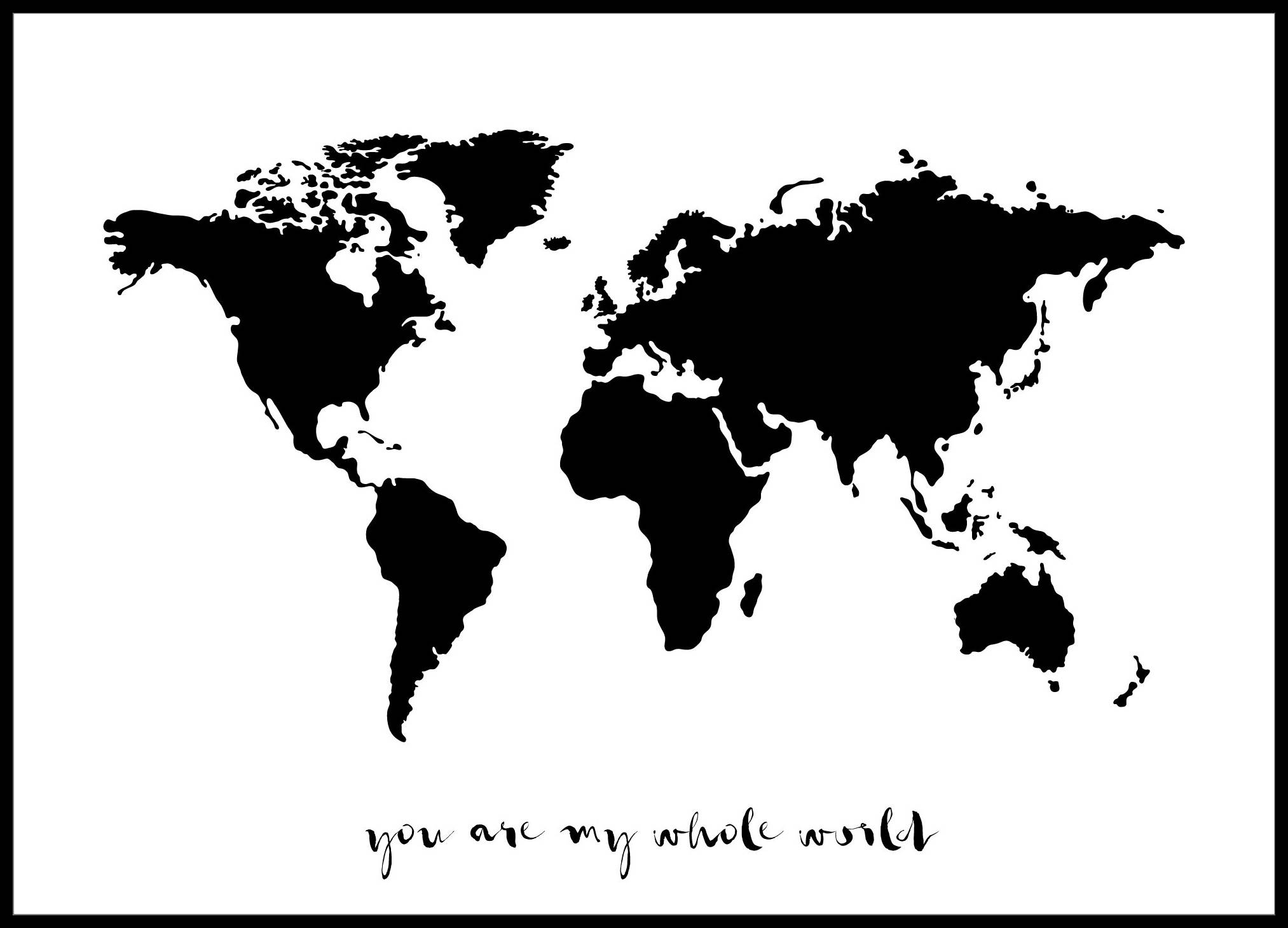 Bildverkstad You are my whole world - Musta