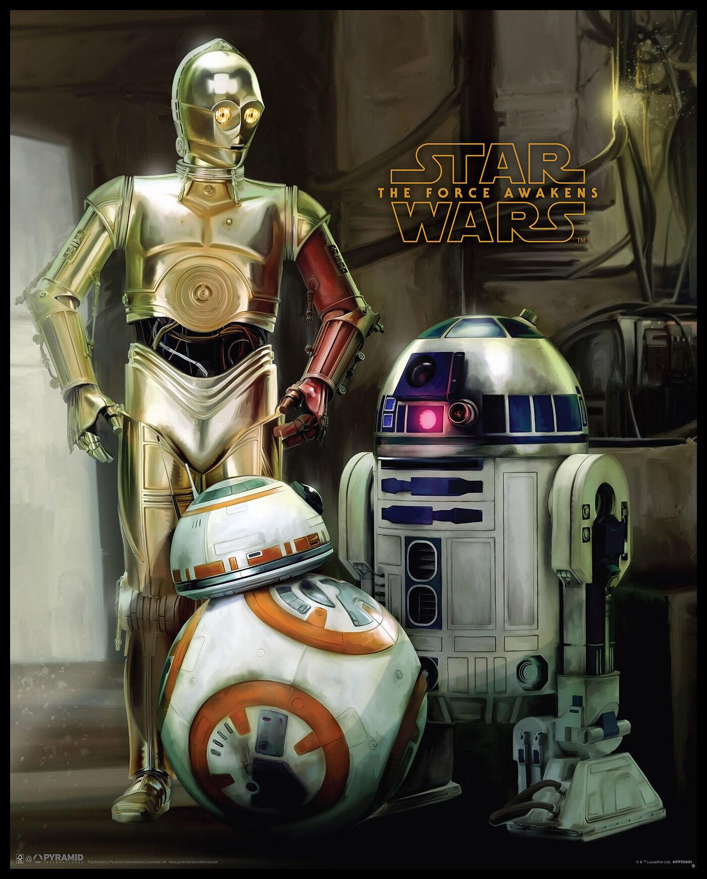 By Agus Star Wars Episode VII - Droids - 40x50 cm