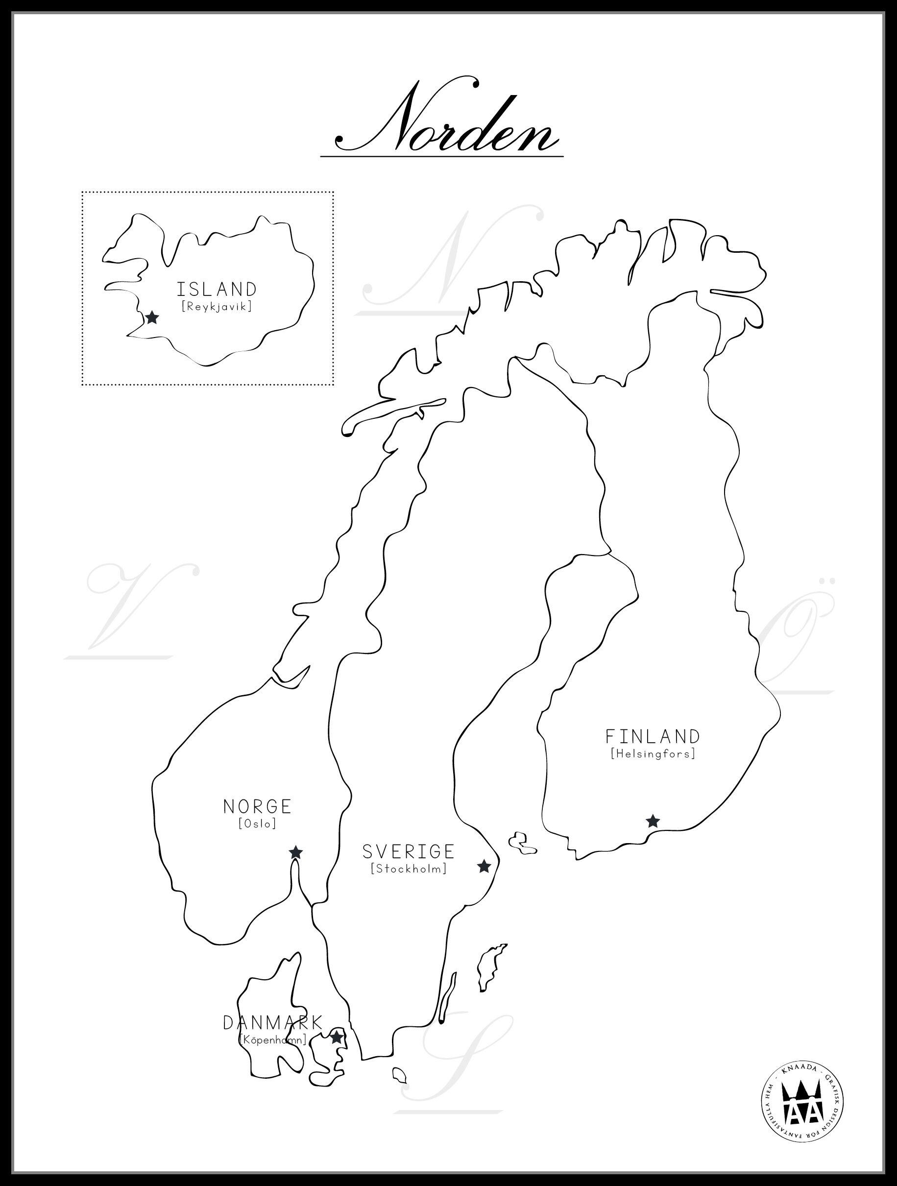 Knaada AB Knaada - Pohjoismaat - 30x40 cm