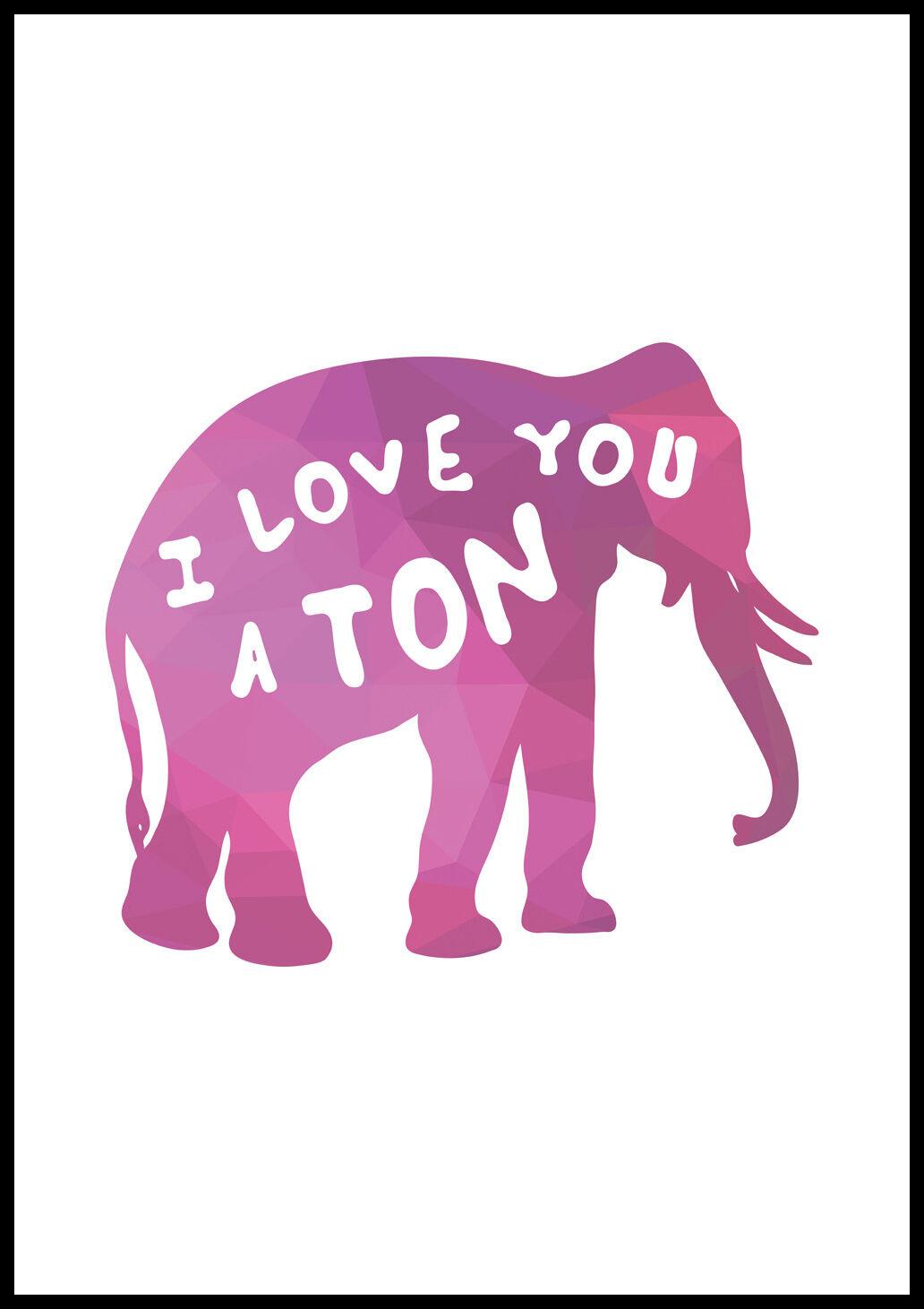 Bildverkstad I love you a TON - Vaaleanpunainen